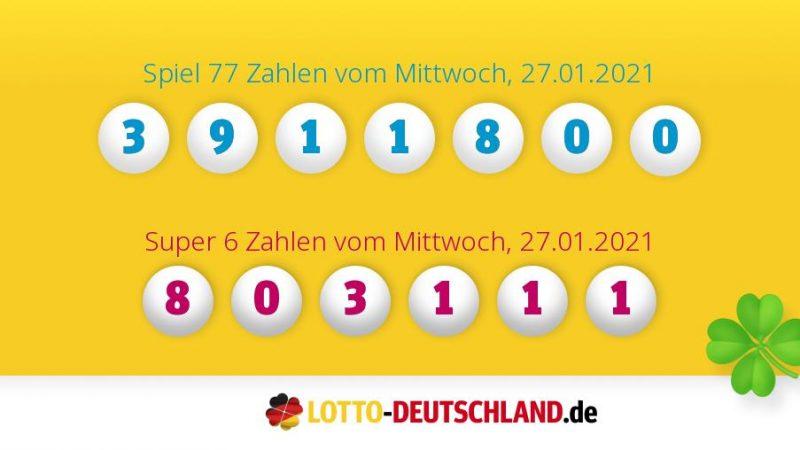 Lottozahlen Mittwoch Und Samstag 2021
