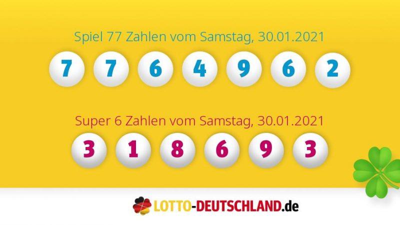 Lottozahlen Vom 30.01.2021