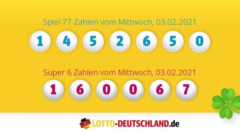 Lottozahlen 03.02.2021