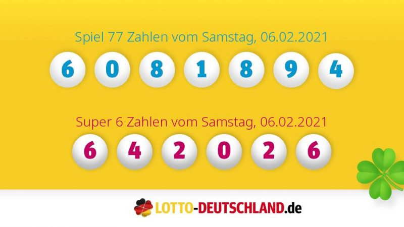 Lottozahlen 02.06.2021