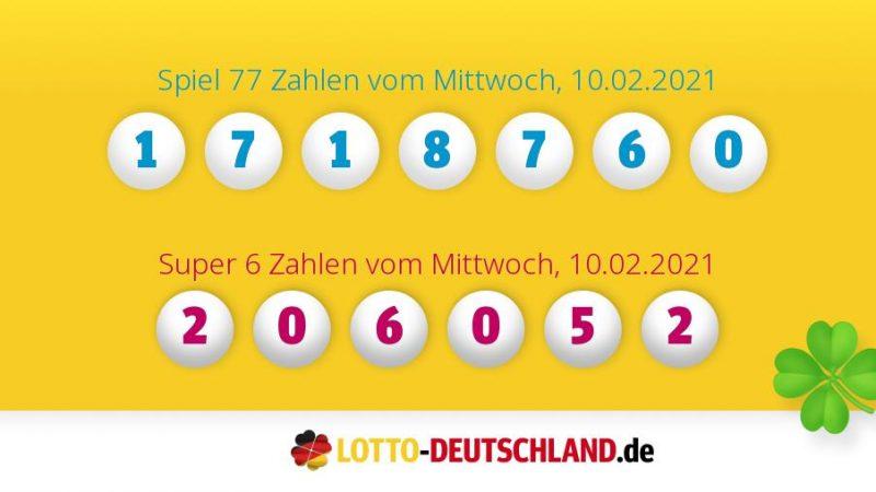 Lottozahlen 10.02.2021