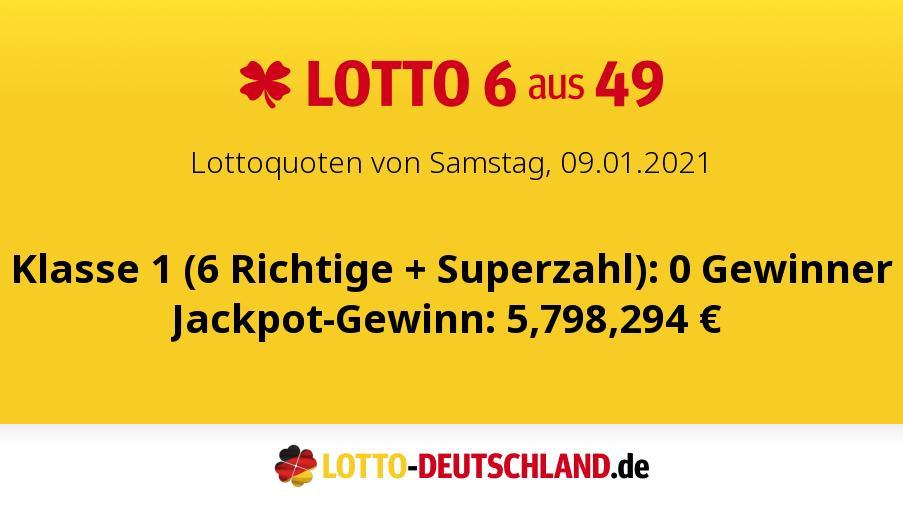Lottozahlen Vom 01.09.2021