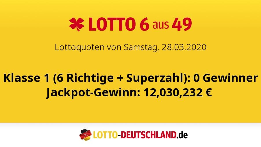 Lottozahlen 28.03 20