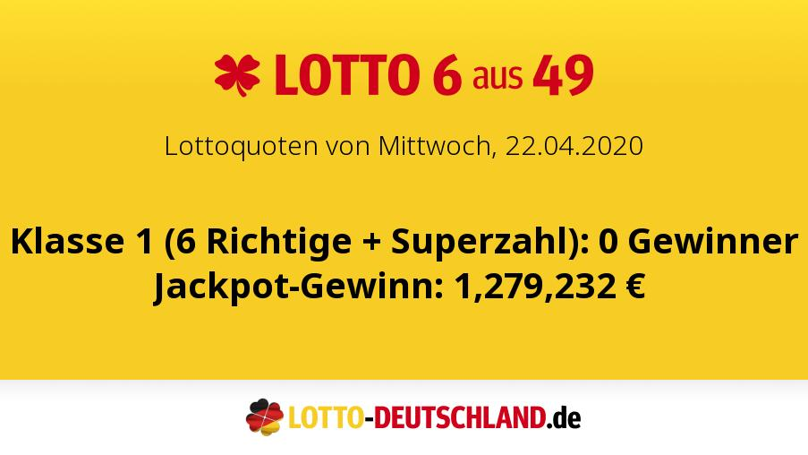 Lottozahlen 22.04 20