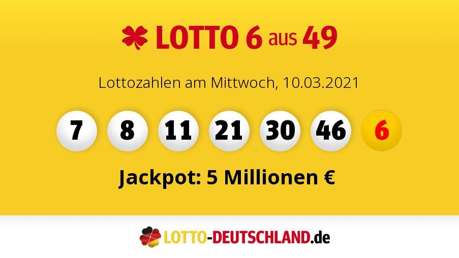 Lottozahlem Mittwoch