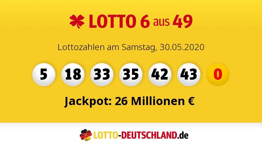 Samstag Lottozahlen Gezogen