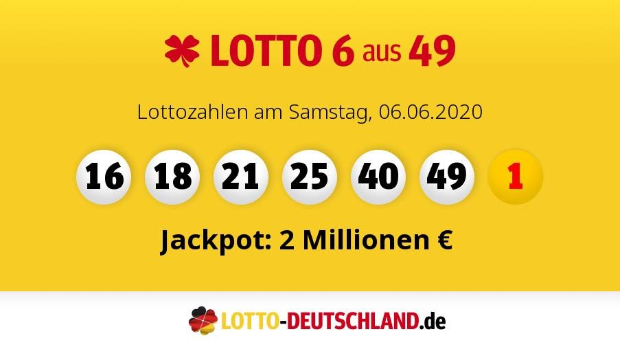 Lottozahlen 06.06 18