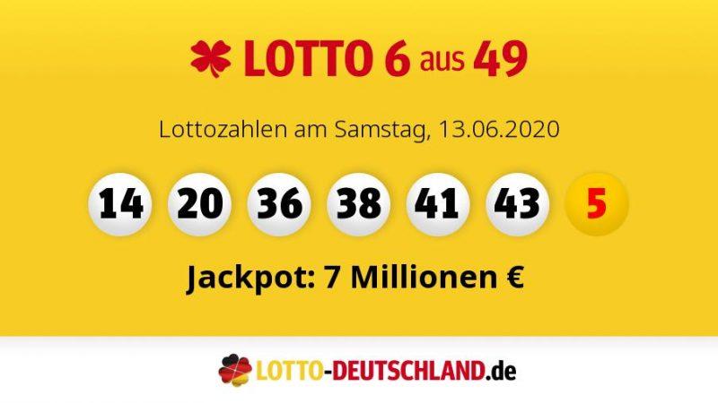 Lottozahlen 13.06 20 Samstag