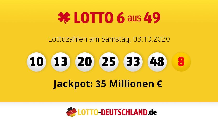 Lottozahlen 04.07 20 Samstag