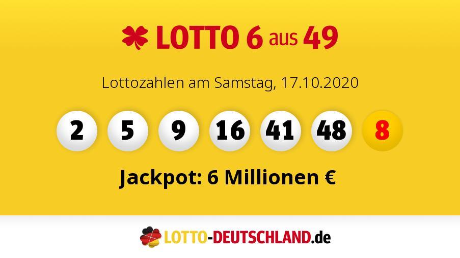 Lottozahlen Samstag 2.5 2021